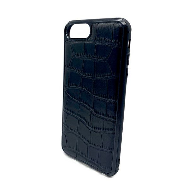 iPhone 6/6S PLUS Phone Case - Obsidian Crocodile Black