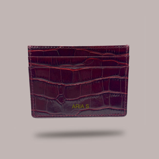 Card Holder - Burgundy