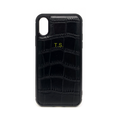 iPhone XR Phone Case - Obsidian Crocodile Black