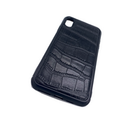 iPhone X/XS Phone Case - Obsidian Crocodile Black