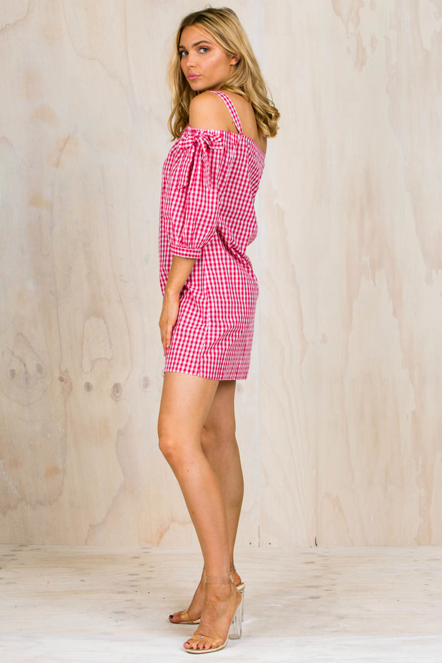 Ruby Checkered Mini Dress