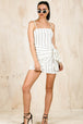 Koko Stripe Mini Dress-DRESSES-BAMBI