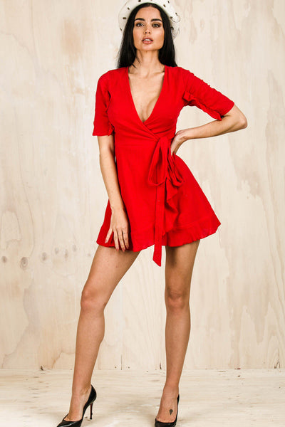 Vendetta Wrap Dress-DRESSES-BAMBI