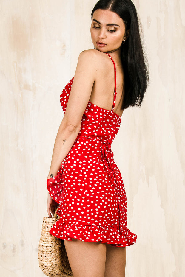Noni Polka Dot Dress - Red