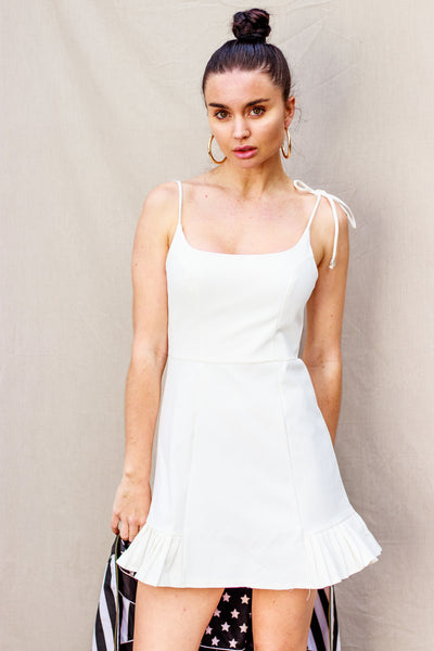 Alora White Mini Dress