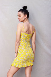 Weekend Away Floral Dress Yellow