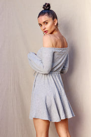 Cozy Marble Knitted Dress