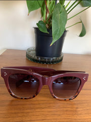 Bold Move Sunglasses -  Burgundy Tort