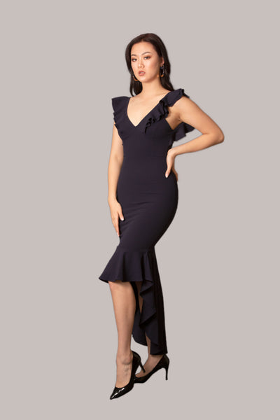 Cinderella Navy Blue Maxi Dress