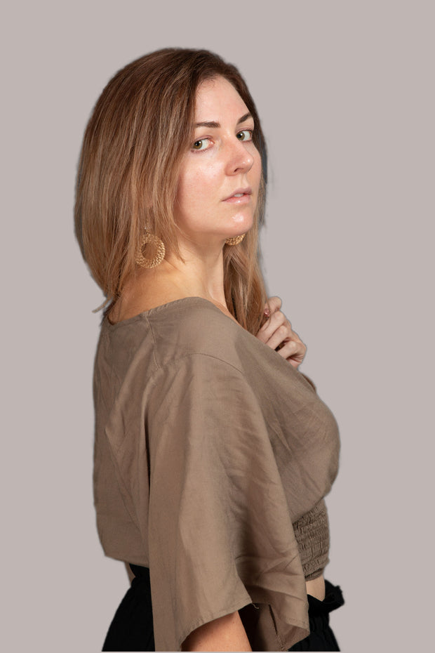 Feirce Crop Top - Olive Grey