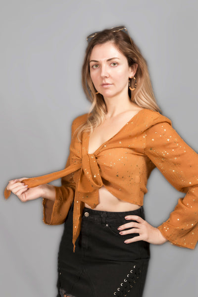Bronze Starry Crop Top