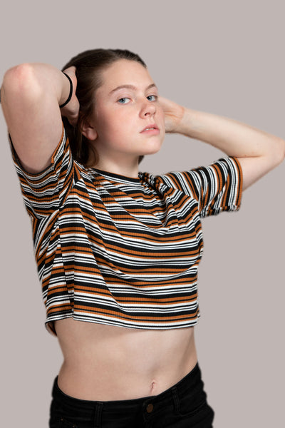 Strayer Cropped Stripe Tee
