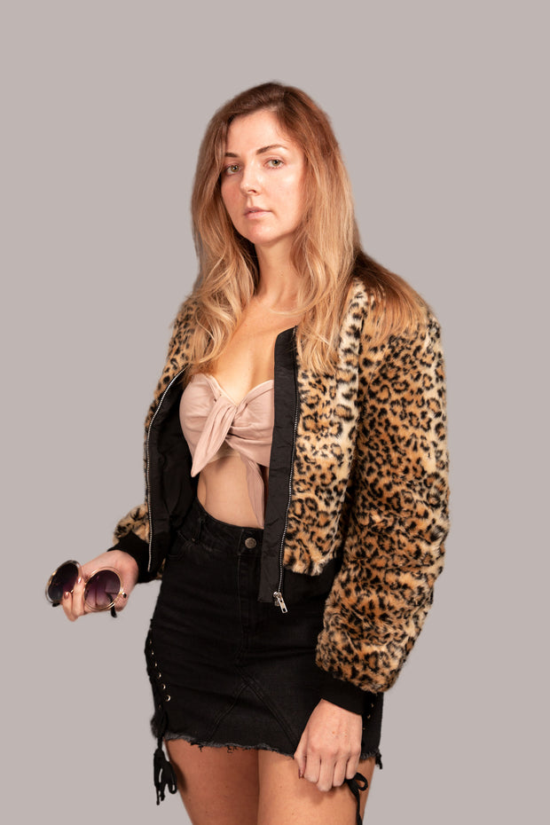 Michelle Jacket Leopard