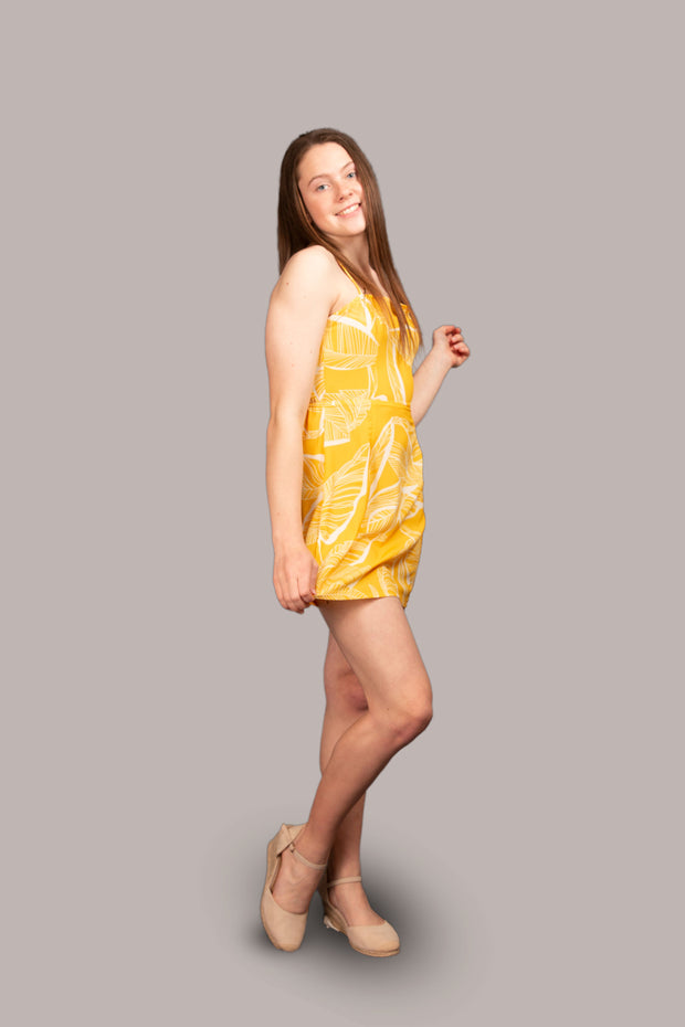 Blossom Mini Dress - Yellow