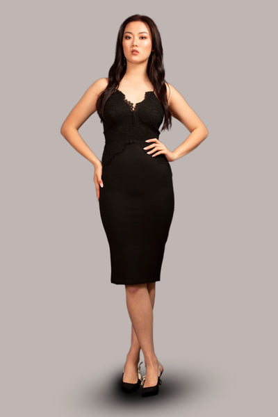 BAMBI Lace Party Dress Black
