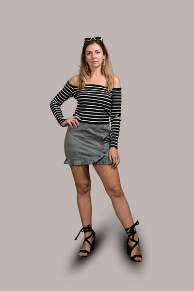 Aliyah Striped Knit Top