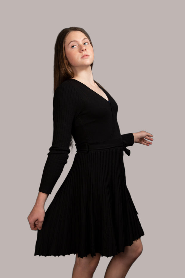Maree Long Sleeve Dress - Black