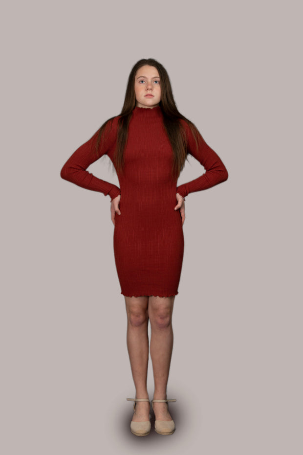 Rose High Neck Dress