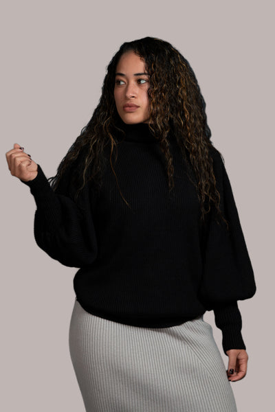 Jaelyn Knit Jumper - Black