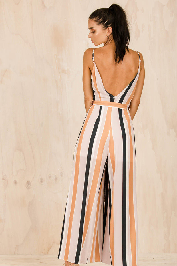 Chelsea Split Jumpsuit-PLAYSUITS + JUMPSUITS-BAMBI