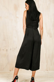 Weekend Outing Jumpsuit  - Black