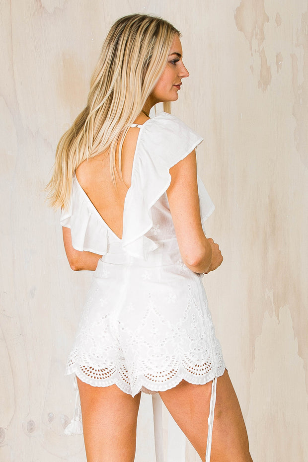 Elodie PLaysuit White
