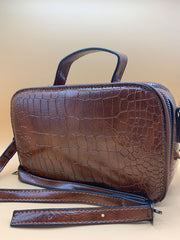 Christy Croc Shoulder Bag Tan