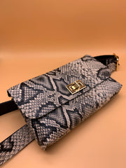 Raven Belt Bag Grey Snake