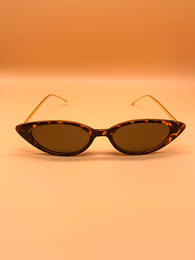 Cat Eye Sunglasses - Leopard