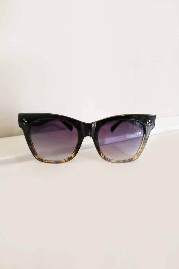 Bold Move Sunglasses -  Black Tort