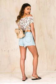 Bailey Blue Denim Shorts-BOTTOMS-BAMBI