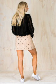 Dotty Skirt - Beige Black