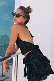 FiFi Backless Tie-Top - Black