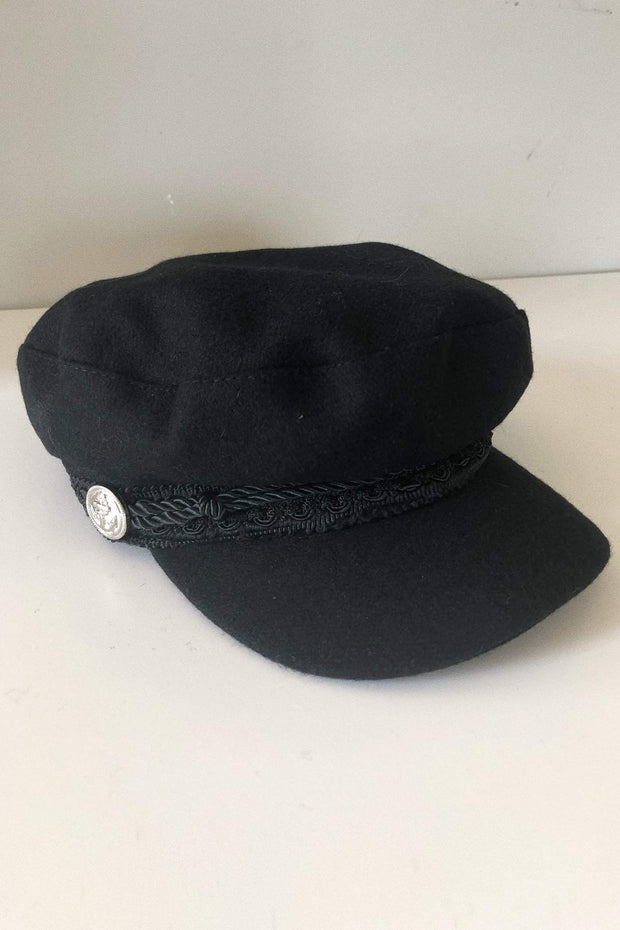 ACCESSORIES - Baker Boy Hat - Black