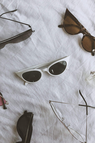 ACCESSORIES - Envy Cat Eye Sunglasses - White