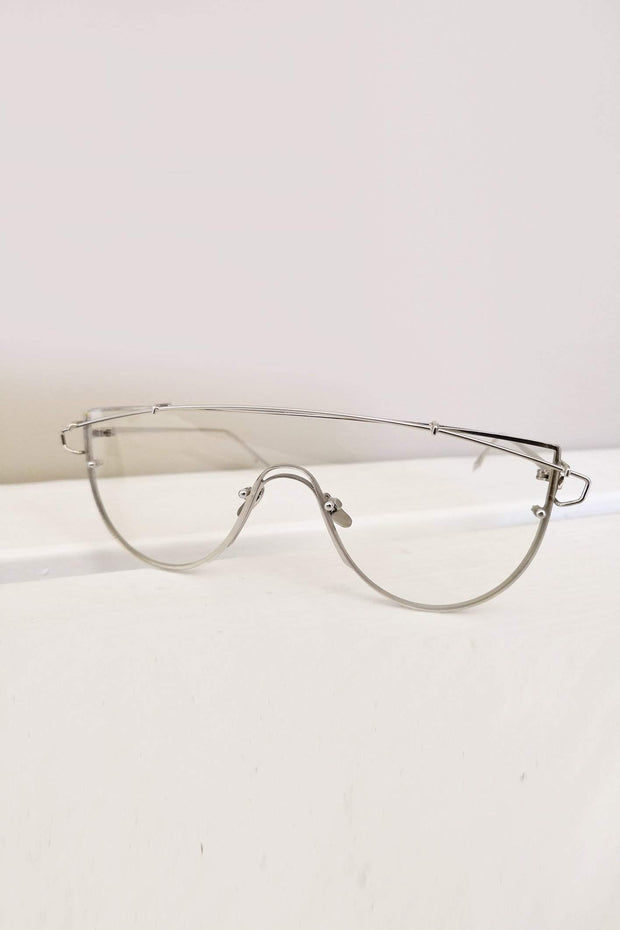 ACCESSORIES - Lana Glasses - Clear Silver