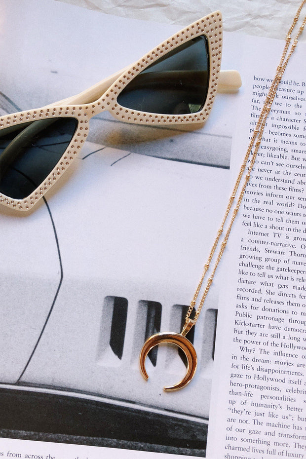 ACCESSORIES - Moon Light Gold Necklace