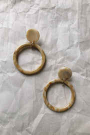 ACCESSORIES - Nasaki Drop Hoop Earrings