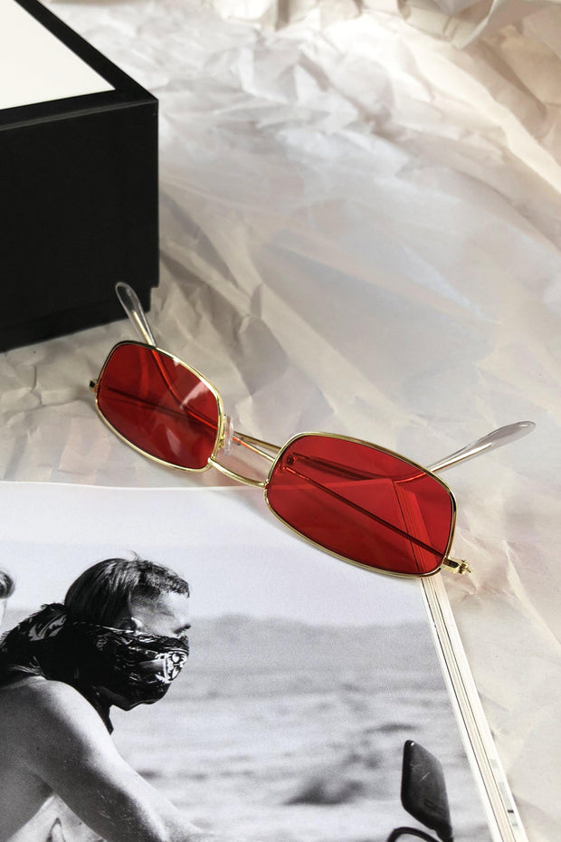 ACCESSORIES - Red Who Are You Sunglasses