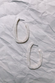 ACCESSORIES - Stone White Earrings