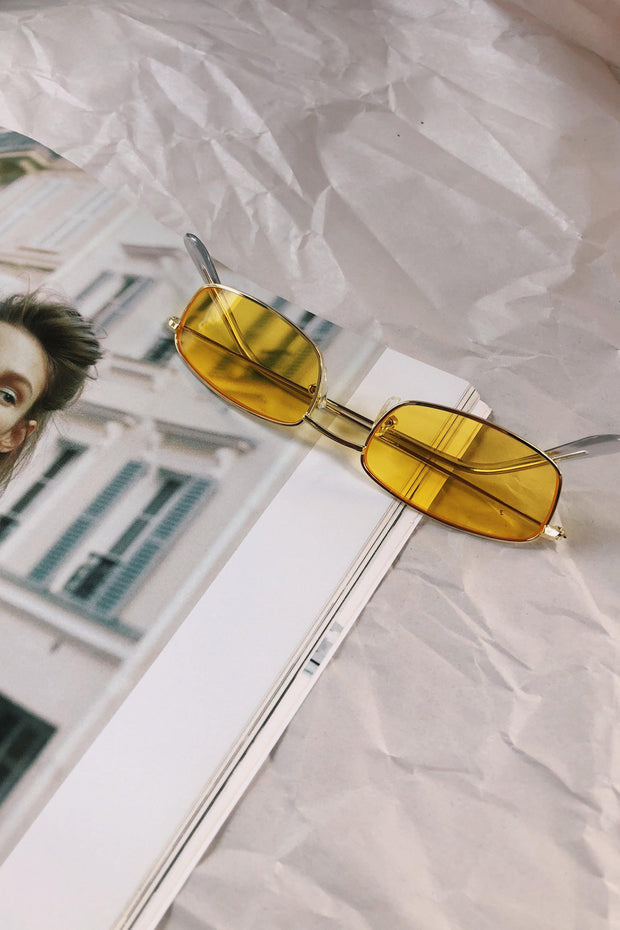 ACCESSORIES - Yellow Who Are You Sunglasses