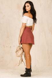 BOTTOMS - Checkered Skater Skirt