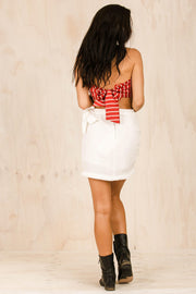 Come On Girl Wrap Skirt - White
