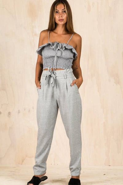 BOTTOMS - Grey Boss Pants (FINAL SALE)