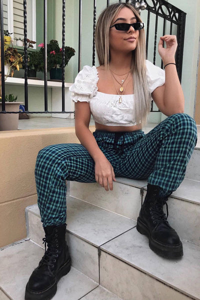 BOTTOMS - Heaven & Hell Checkered Pants (FINAL SALE)