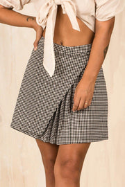 BOTTOMS - Houndstooth Mini Skirt