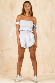 BOTTOMS - Mandy Shorts - Blue (FINAL SALE)