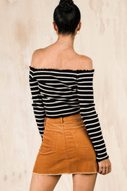 BOTTOMS - Miley Rust Skirt