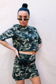 BOTTOMS - Riri Camo Skirt