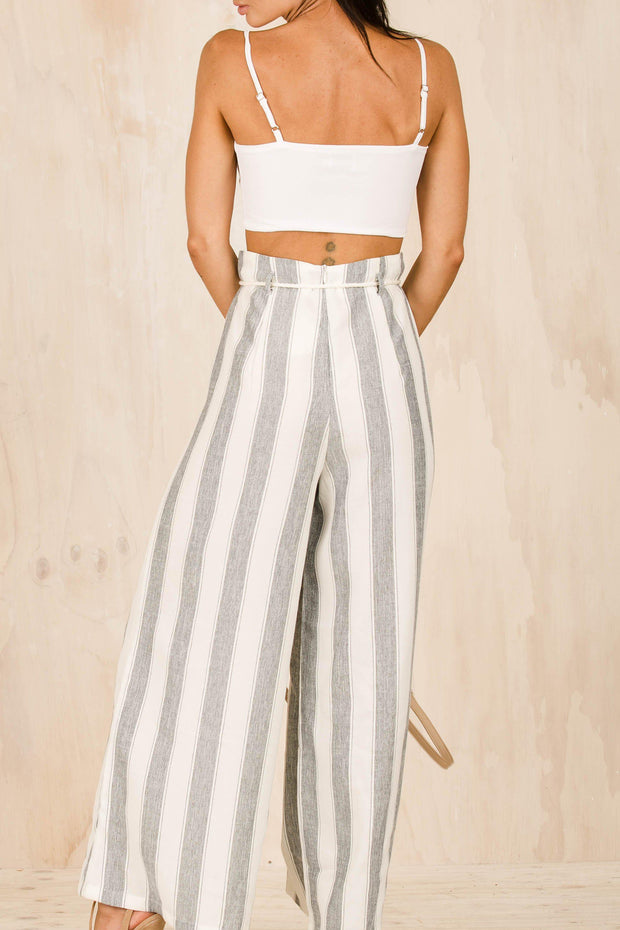 BOTTOMS - Sailor Stripe Rope Pants